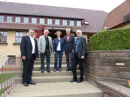 v.L. Daniel Steinrode, Dr. Rainer Prewo, Dr. Ursula Utters, BM Jochen Stoll, Lothar Kante