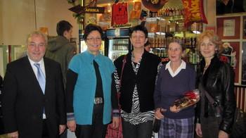(v.l.n.r.): Dr. Rainer Prewo MdL, Ingrid Miklitz, Saskia Esken, Lisette Siek-Wattel und Sigrid Klausmann-Sittler