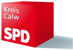 SPD-Würfel Kreis Calw (kurzer Schatten rechts)