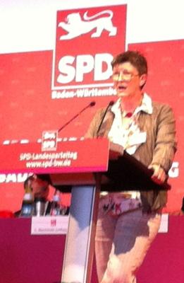 Saskia Esken beim Landesparteitag am 29.09.2012 in Wiesloch