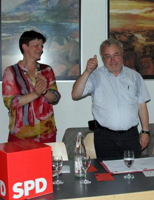 v.l. Saskia Esken, Dr. Rainer Prewo